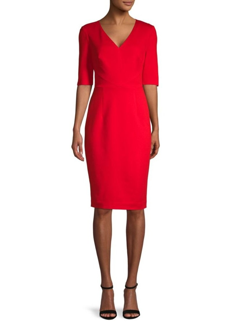 Trina Turk Eastern Luxe Locale V-Neck Sheath Dress