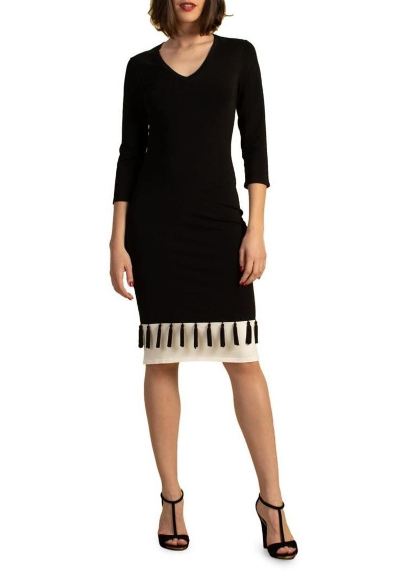 Trina Turk Eastern Luxe V-Neck Sheath Dress