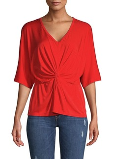 Trina Turk Etta Knotted V-Neck Top