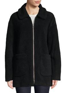 Trina Turk Faux Fur Zip Teddy Jacket
