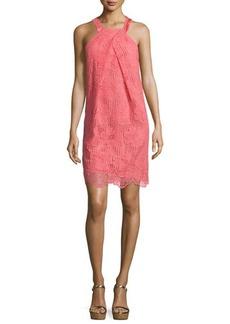 Trina Turk Felisha Sleeveless Floral Lace Shift Dress