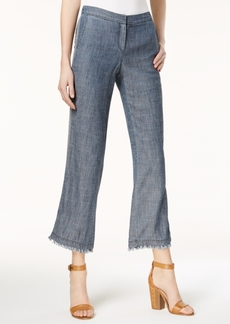 Trina Turk Filipe Frayed Chambray Pants
