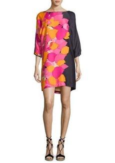 Trina Turk Floral 3/4-Sleeve Shift Dress