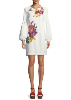 Trina Turk Floral Balloon-Sleeve Mini Dress
