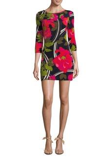 Trina Turk Floral Boatneck Mini Dress