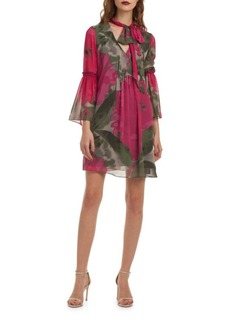 Trina Turk Floral Chiffon Shift Dress