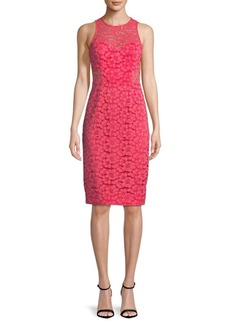 Trina Turk Floral Lace Knee-Length Dress