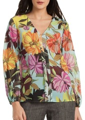 Trina Turk Floral Welcome Top