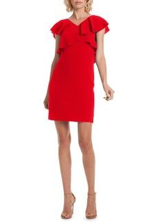 Trina Turk Found in Translation Cameron Cross Ruffle Dress