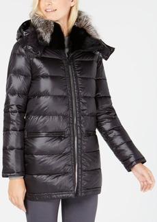 Trina Turk Fox-Fur-Trim Coat