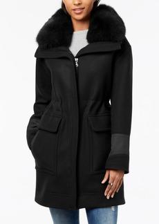 Trina Turk Fur-Collar Coat