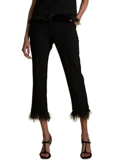 Trina Turk Fusako Feather-Trim Pants
