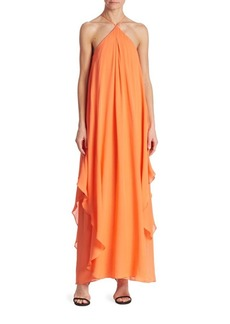 Trina Turk Ginger Silk Georgette Maxi Dress