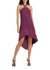 Trina Turk Glow Halter Hi-Lo Dress