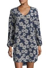 Trina Turk Granville Floral-Print Silk Dress