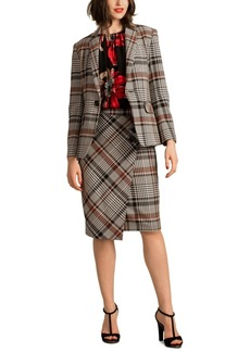 Trina Turk Habanero 2 Plaid Single-Button Blazer
