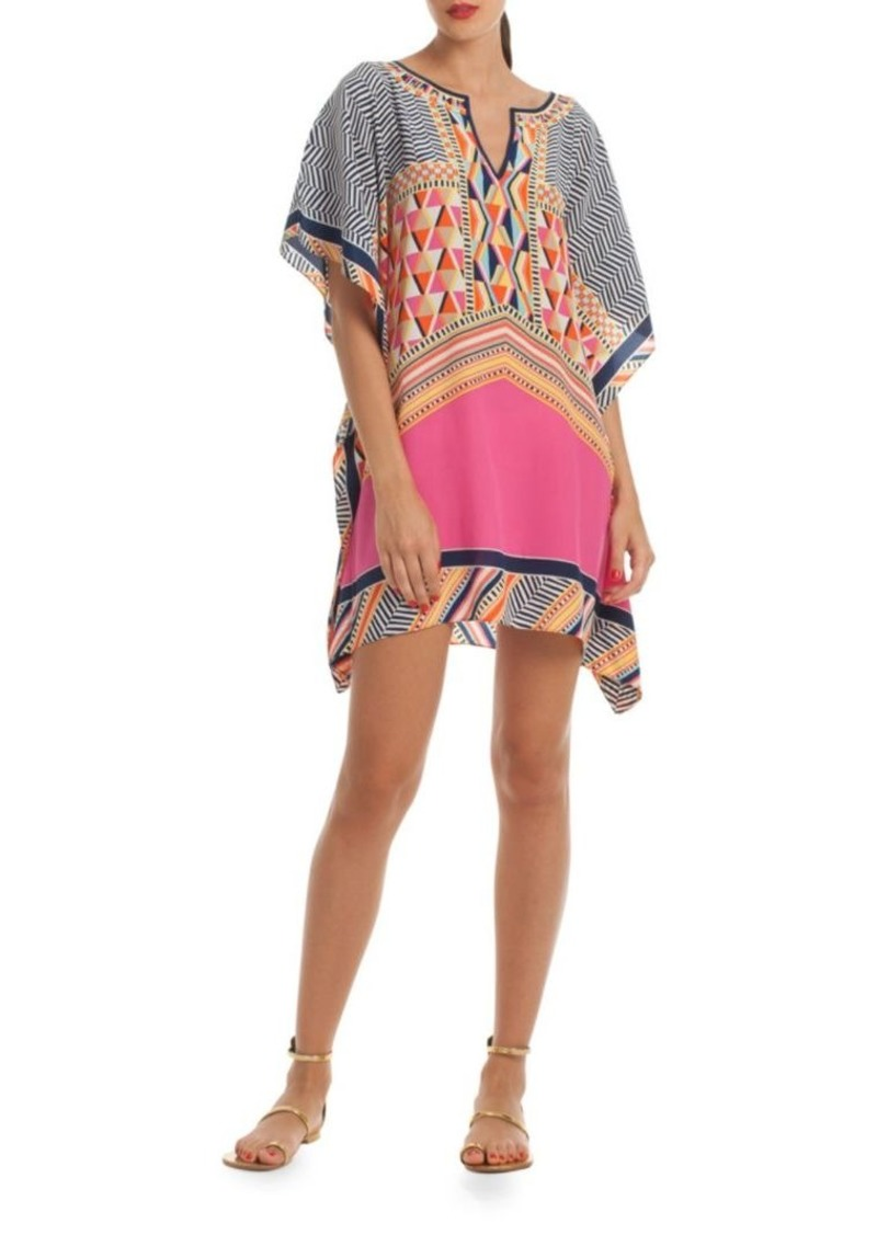 Trina Turk Haute Havana Theodora Split-Neck Dress