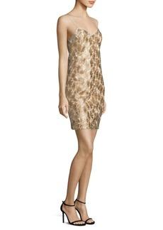 Trina Turk Highlight Metallic Slip Dress
