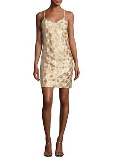 Trina Turk Highlight Sleeveless Metallic Cocktail Dress