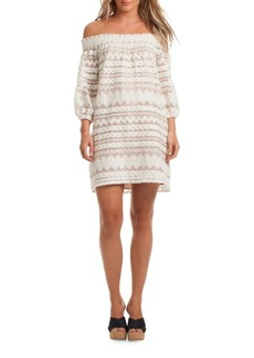 Trina Turk Hoku Off-The-Shoulder Dress