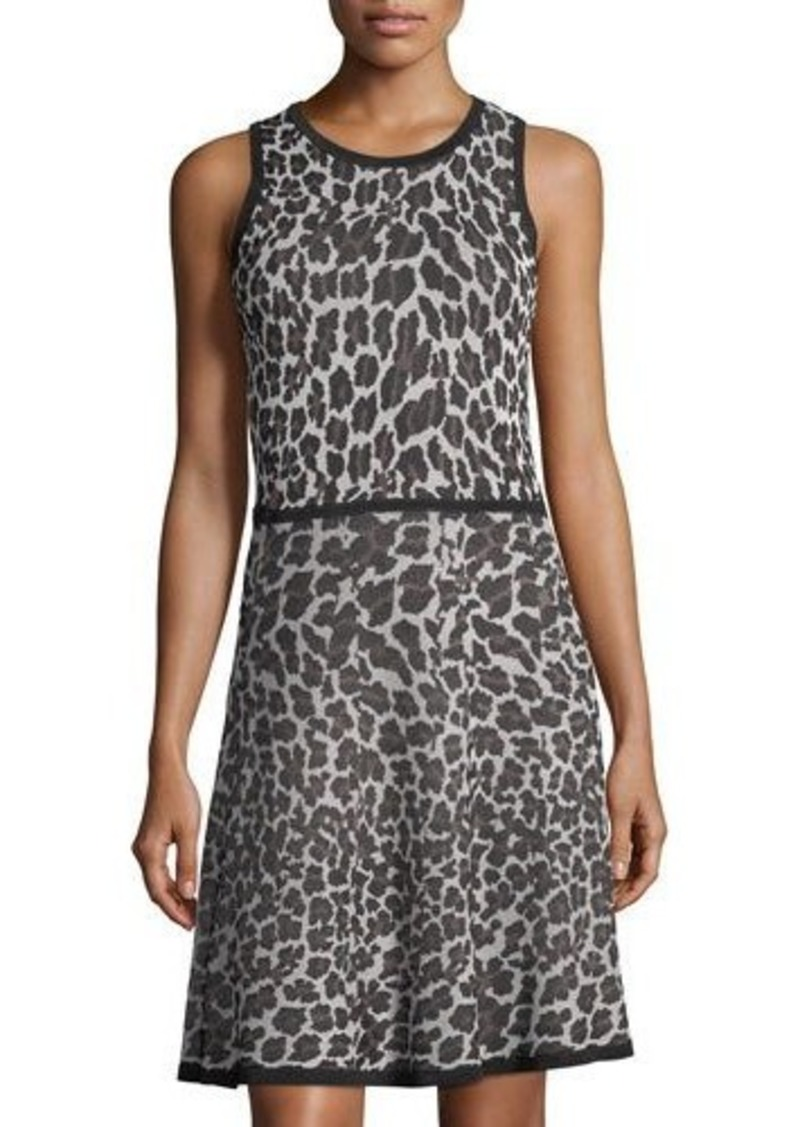 0c5281f6e3 SALE! Trina Turk Trina Turk Huxley Leopard-Print Sweater Dress