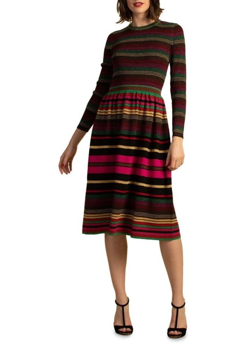 Trina Turk Ikagai Wool-Blend Sweater Dress