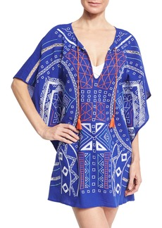 Trina Turk Jakarta Embroidered Caftan Coverup
