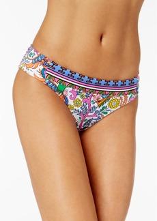 Trina Turk Jungle Beach Paisley-Print Shirred Hipster Bikini Bottoms Women's Swimsuit