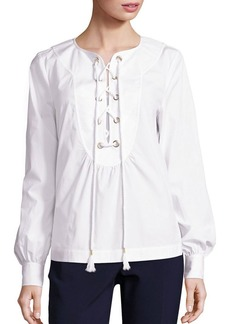 Trina Turk Kahula Lace-Up Top