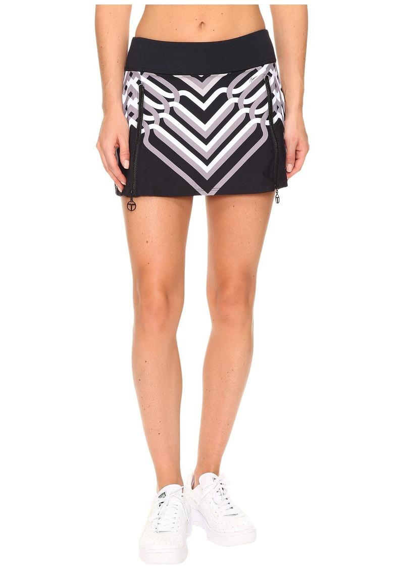 Trina Turk Lattice Wrap Tennis Skirt