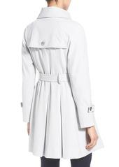 Trina Turk 'Lilian' Pleated Single Breasted Trench Coat (Regular & Petite)