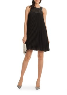 Trina Turk Lynelle Pleated Babydoll Dress