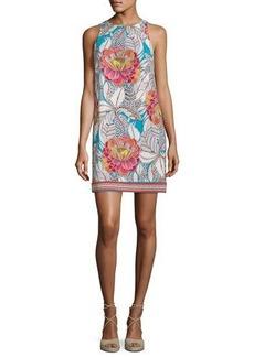 Trina Turk Macee Sleeveless Floral Jersey Shift Dress