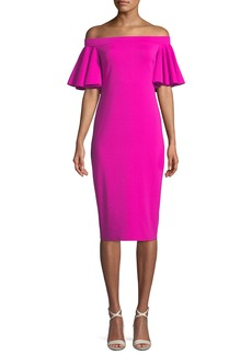 Trina Turk Magnificent Off-the-Shoulder Dress