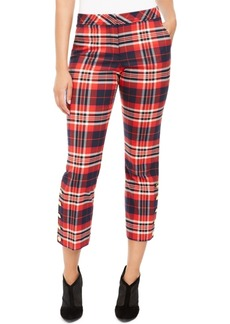 Trina Turk Mercury Plaid Straight-Leg Pants