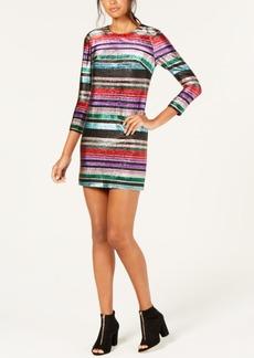 Trina Turk Metallic Striped Shift Dress