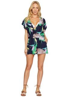 Trina Turk Midnight Paradise Kimono Romper Cover-Up
