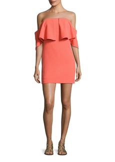 Trina Turk Mirador Off-the-Shoulder Popover Mini Dress