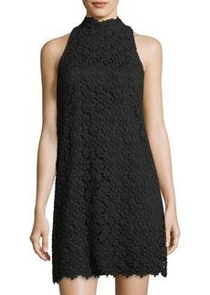 Trina Turk Mock-Neck Lace Dress