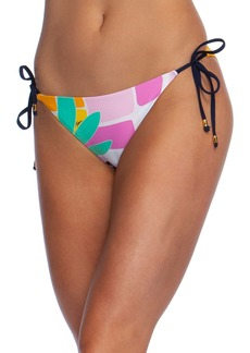 Trina Turk Mosaic Sunrise Side Tie Bikini Bottoms
