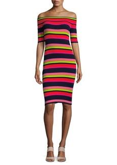 Trina Turk Multicolored Striped Bodycon Dress