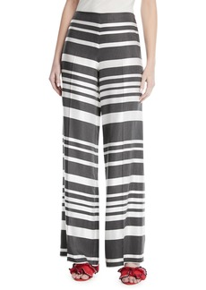 Trina Turk Netti Parasol Striped Wide-Leg Pants