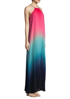 Trina Turk Ombre Halterneck Maxi Dress