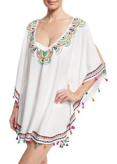 Trina Turk Paisley Embroidered Caftan Coverup