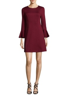 Trina Turk Panache Bell-Sleeve Mini Dress