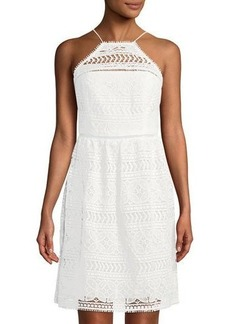 Trina Turk Picnic High-Neck Lace Dress