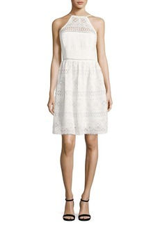 Trina Turk Picnic Lace Halter Dress