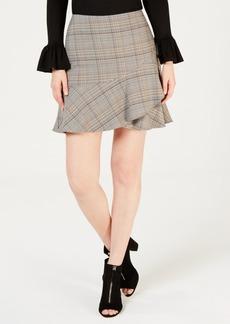 Trina Turk Plaid Mini Skirt