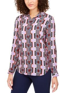 Trina Turk Printed Button-Down Silk Top