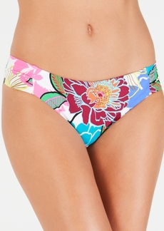Trina Turk Radiant Blooms Shirred Side Hipster Bottoms Women's Swimsuit